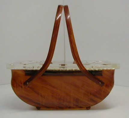 Vintage lucite plastic purse.