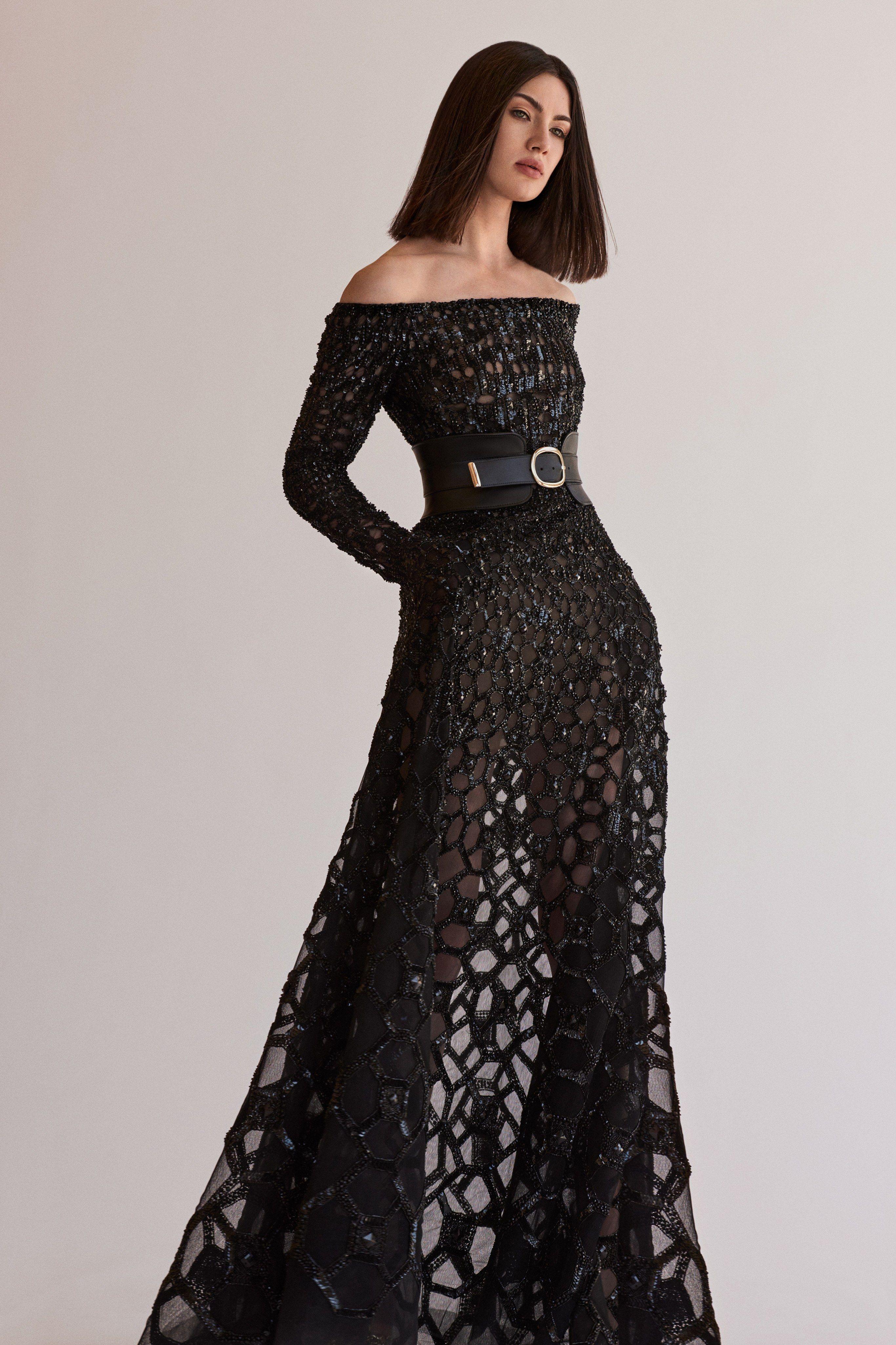 Elie Saab Resort 2020 Fashion Show Couture Evening Dress Elie Saab Gowns Black Evening Dresses