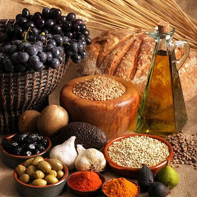 Make it Mediterranean _ 6 Dietary Changes That May Help Ease Rheumatoid Arthritis Pain _ In a 2003 Swedish study, people with RA who ate a Mediterranean diet rich in fruits, vegetable, cereals, legumes,  olive oil for three months experienced improved physical functioning and vitality when compared to RA patients who did not.