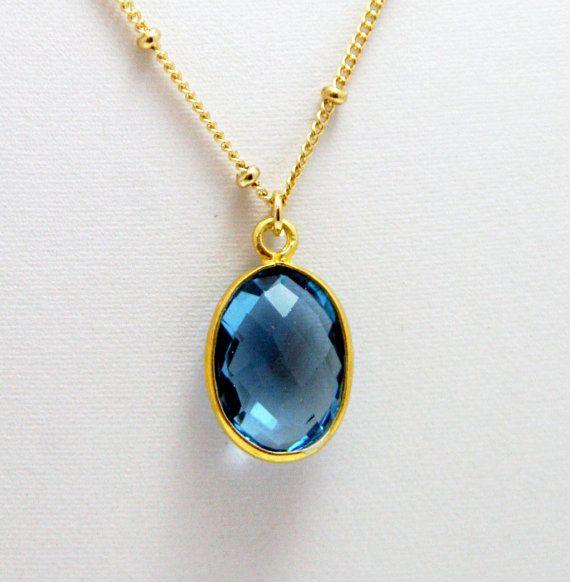 Blue moon blue saphire gemstone pendant necklace by hausofagnes blue moon blue saphire gemstone pendant necklace by hausofagnes 4200 aloadofball Images