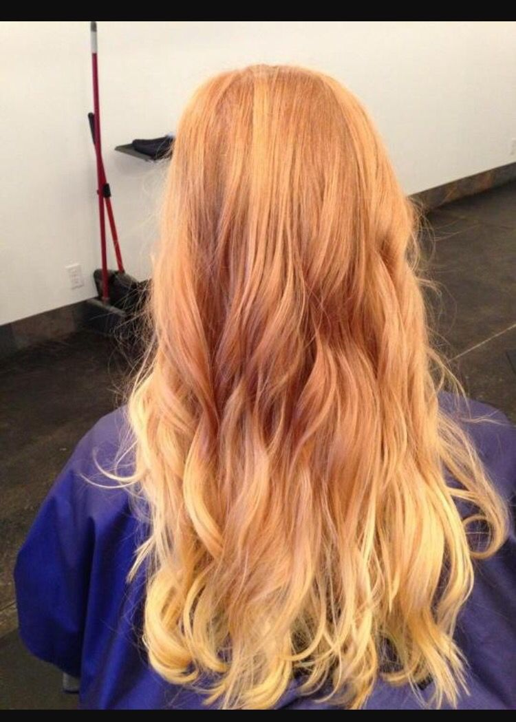 Almost Natural Ombre Red Blonde Hair Ginger Hair Color Red Dip