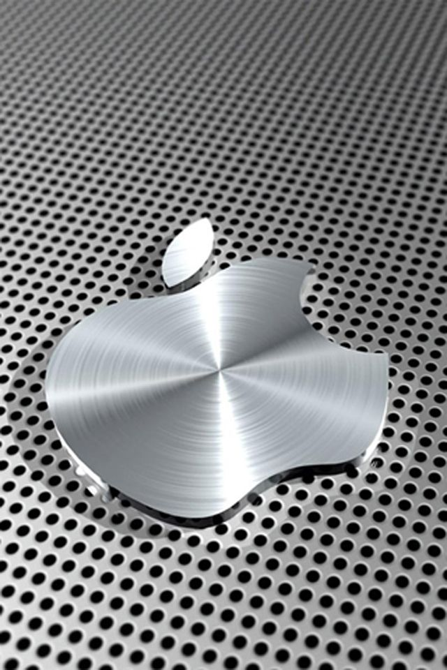 Apple silver Iphone wallpaper