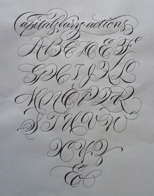 Pointed Pen Vary Actions Tattoo Lettering Fonts Hand Lettering Alphabet Hand Lettering