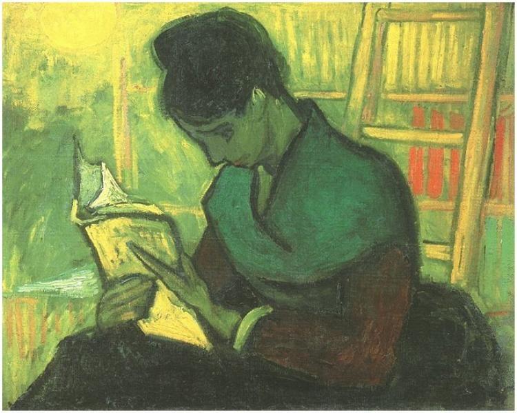 Vincent van Gogh Novel Reader, The Painting