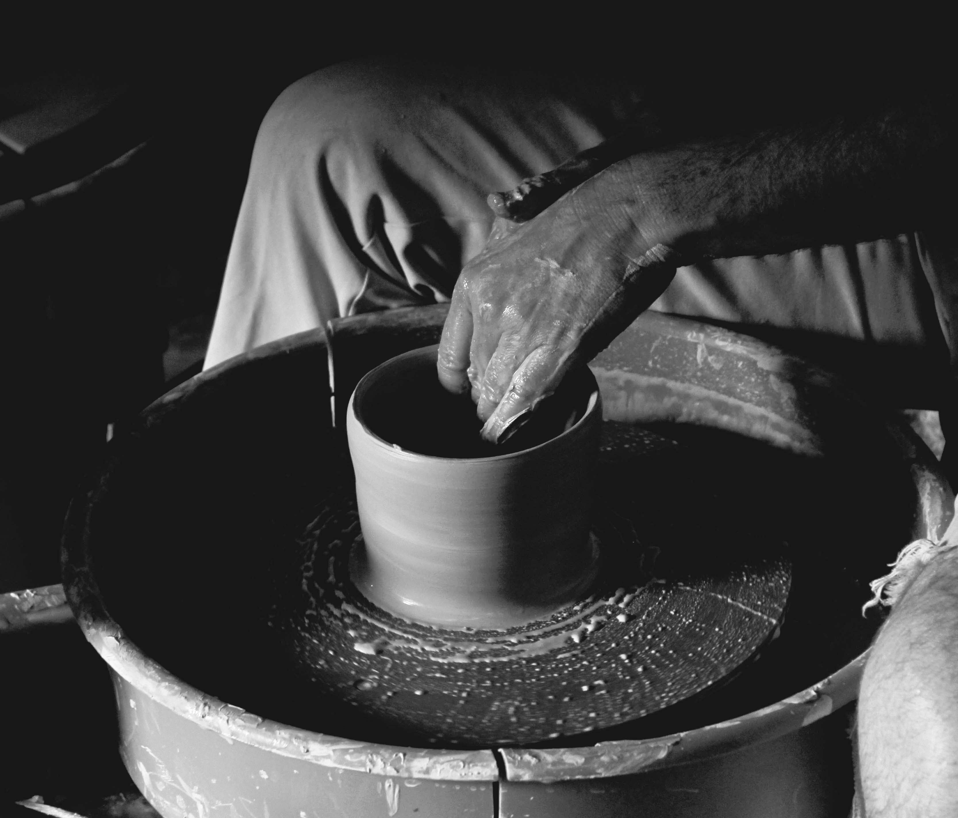 I love digging my hands in clay. And love photographing pottery making even more. Taken at The Clay Lady studio in Nashville by Amber Huston