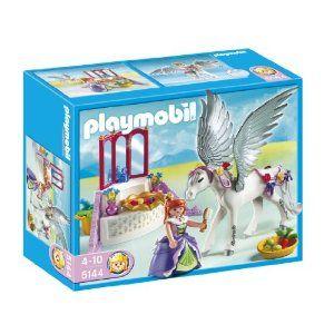 Playmobil - 5144 - Jeu de construction - Cheval ailé et coiffeuse de princesse: Amazon.fr: Jeux et Jouets