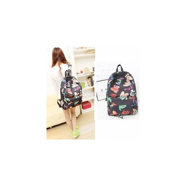 Fashion Cute Korean Style women Girls backpack Student School Travel... (70 HKD) via Polyvore