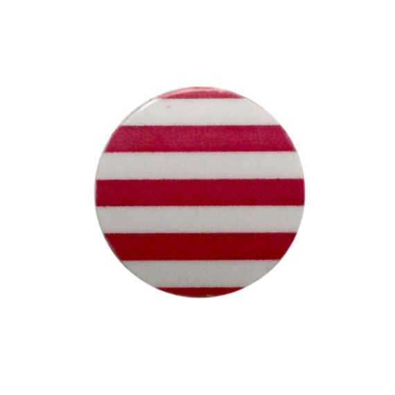 Photo of Large Red Stripe Floating Plate, 22mm, fits Large Origami Owl Lockets