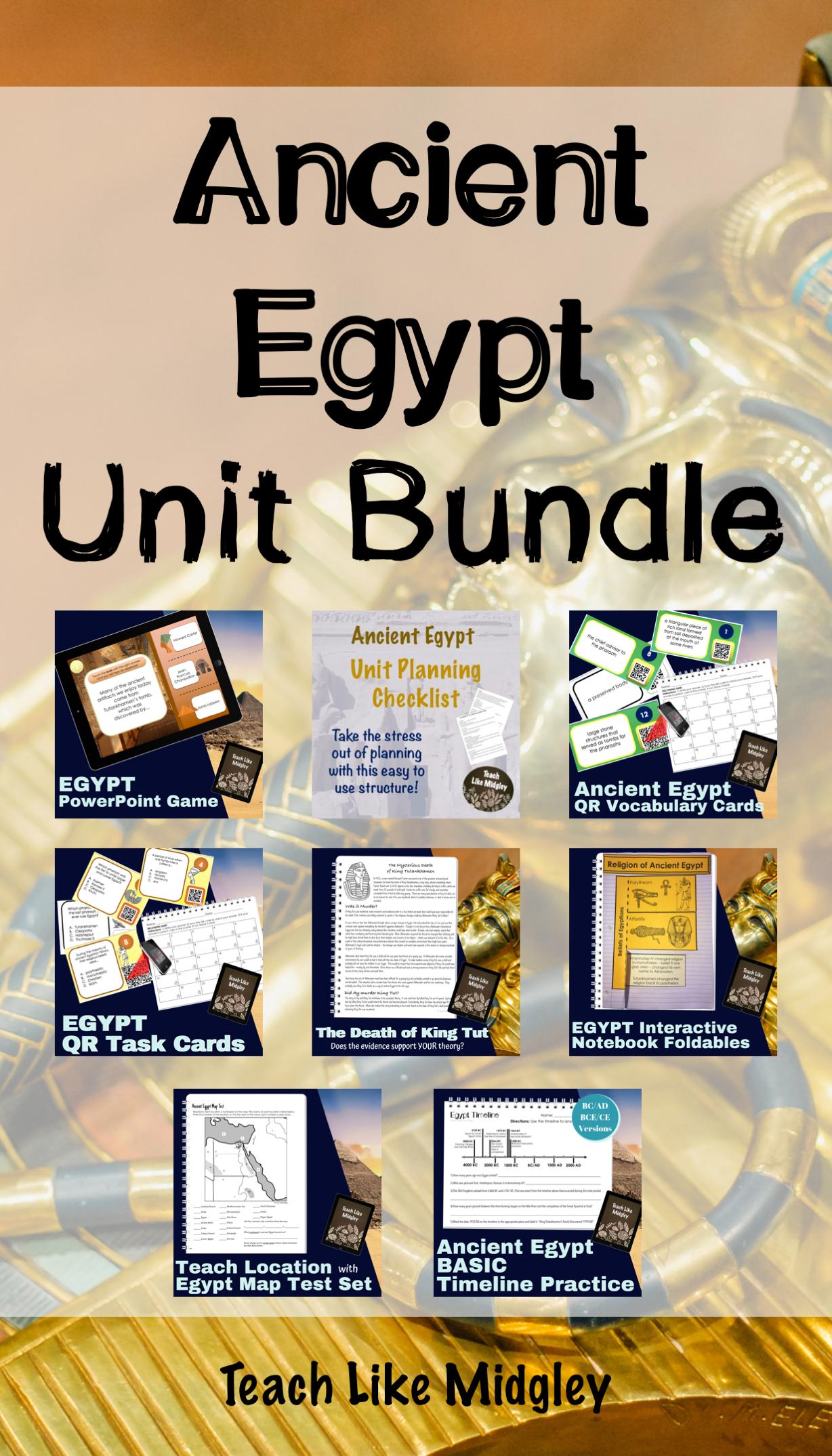 Ancient Egypt Unit Bundle Of Resources