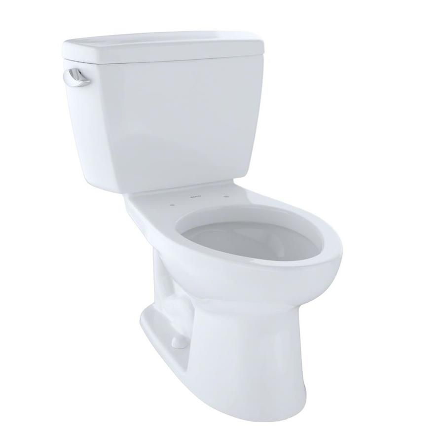 Toto Drake Cotton White Elongated Standard Height 2 Piece Toilet 12 In Rough In Size Toto Toilet Ada Toilet Toto