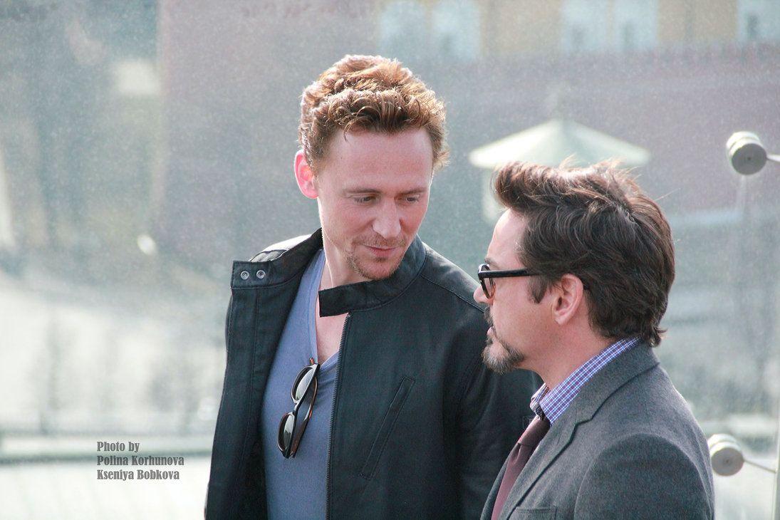 Tom Hiddleston And Robert Downey Jr By Godwitch On Deviantart Robert Downey Jr Tom Hiddleston Downey Junior