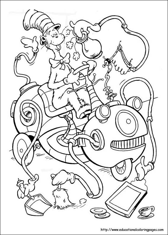 graphic relating to Dr.seuss Printable Coloring Pages named Dr. Seuss Coloring Webpages: Rejoice Dr. Seusss Birthday