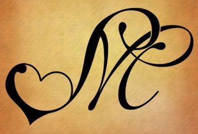 M Corazon Tatuaje Inicial Tatuaje Letra M Letras Para Tatuajes