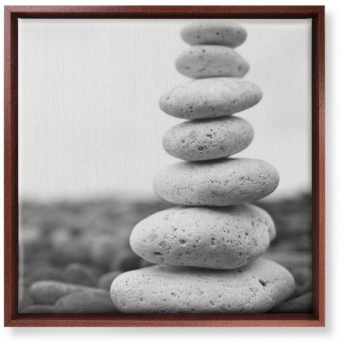 Stacked Rocks Canvas Print, Brown, Single piece, 16 x 16 inches