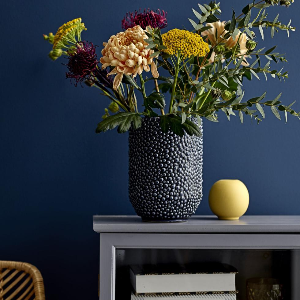 Blue Dot Texture Vase
