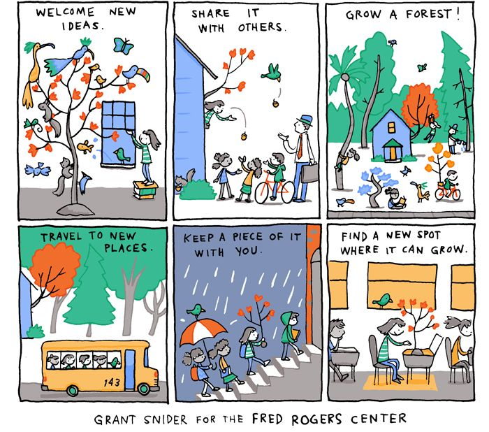 How To Grow Imagination I Drew This Comic For The Fred Rogers Center For Early Learning And Children S Media At Saint Vincent Comics Dreamy Designs Fred Rogers
