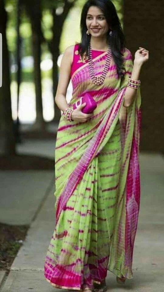 99d61b25bbd300 Pinterest : ThePrettiestSoul Shibori Sarees, Indian Sarees, Indian Dresses,  Indian Outfits, Silk