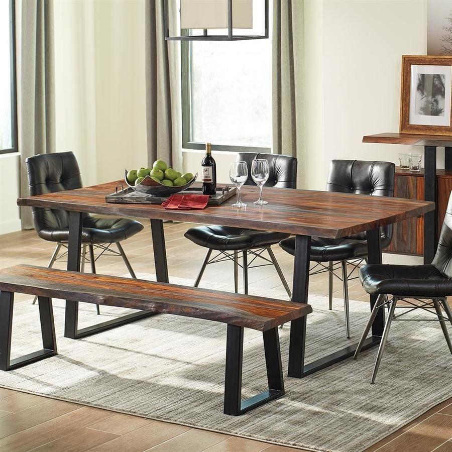 Scott Living Jamestown Grey Sheesham Wood Dining Table 107511 In