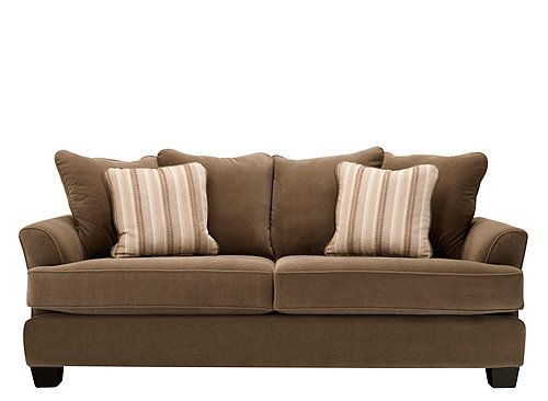 This Kathy Ireland Home Ryann Microfiber Sofa Not Only