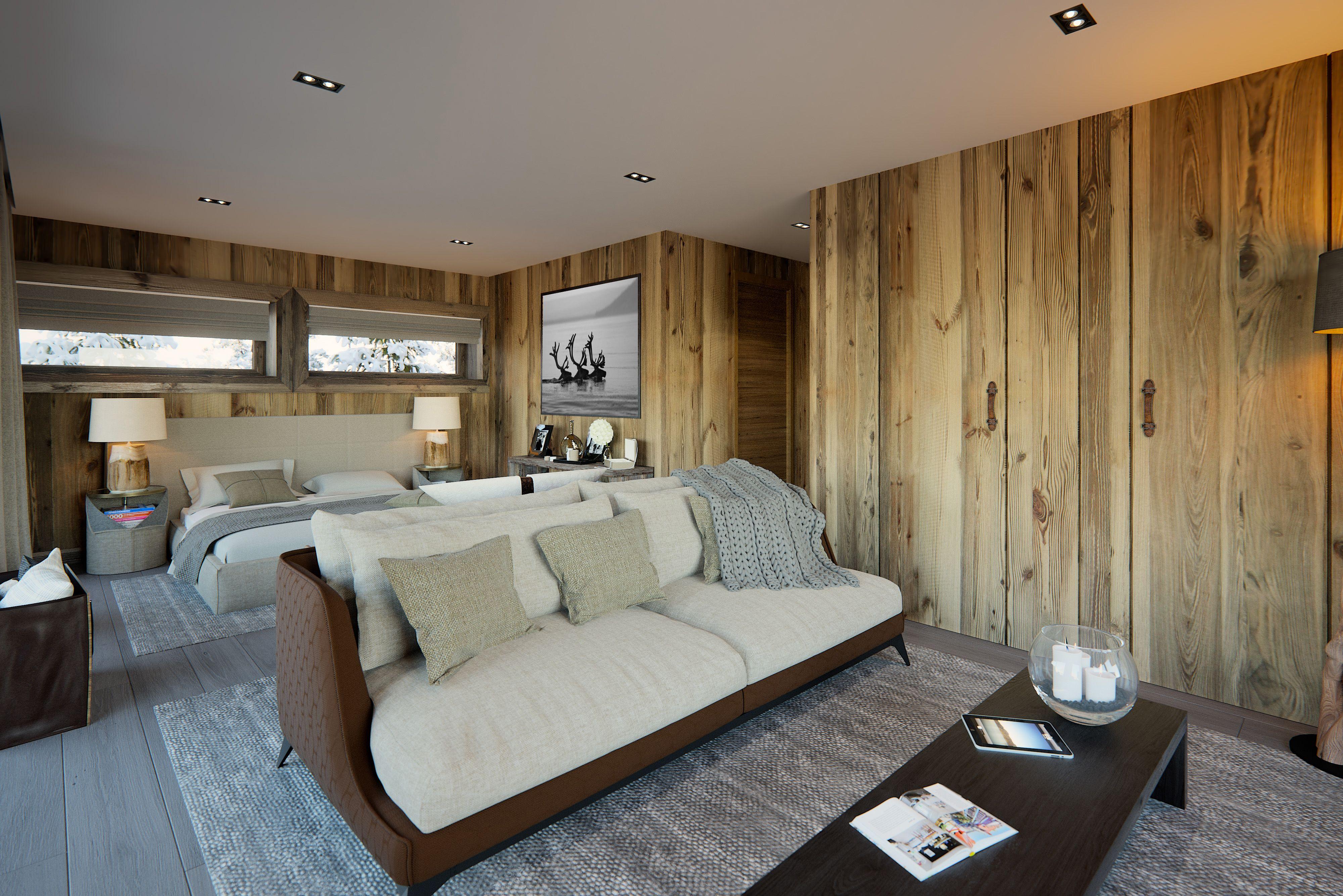 projet immobilier Megeve construction de luxe chalet sur piste