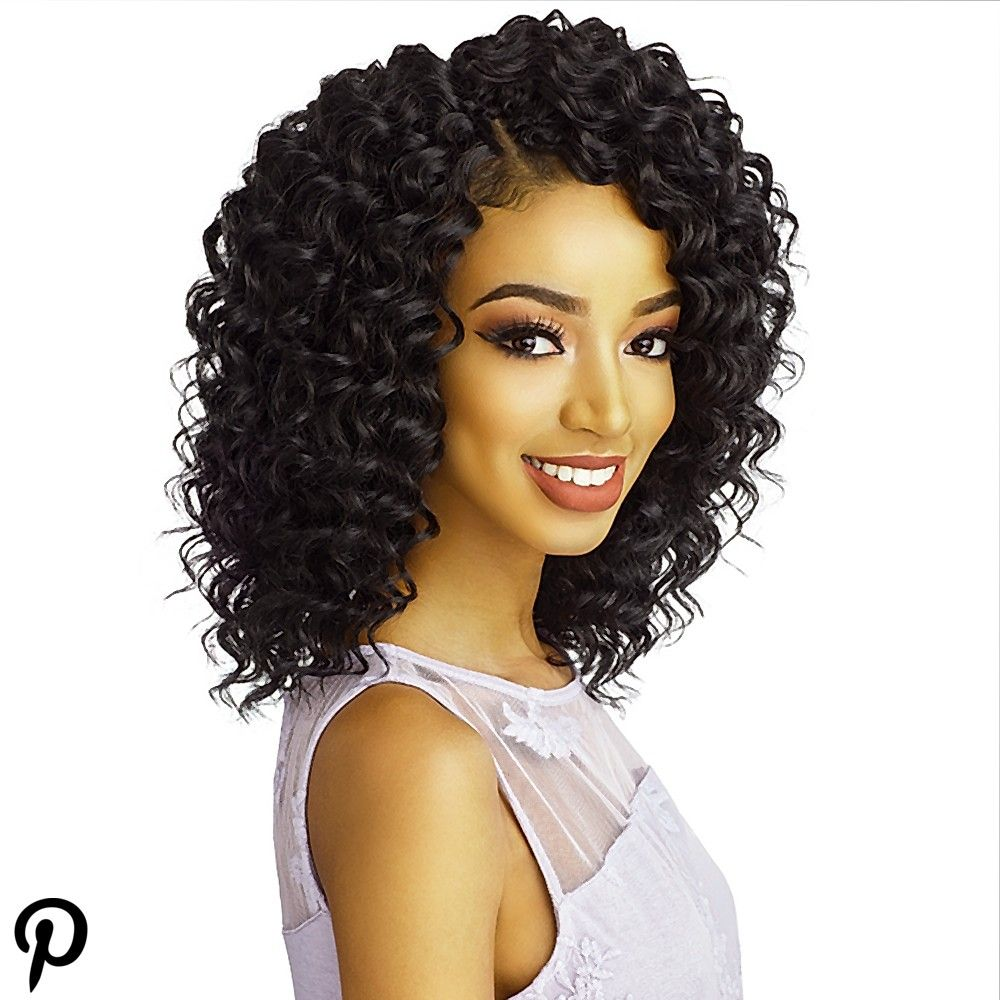 Sensationnel Synthetic Hair Crochet Braids Lulutress 2x Deep Twist 8 Curly Hair With Bangs Long Curly Hair Long Curly