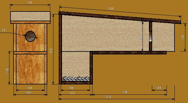 plan de nichoir chev che bird houses pinterest bird houses and birdhouse. Black Bedroom Furniture Sets. Home Design Ideas