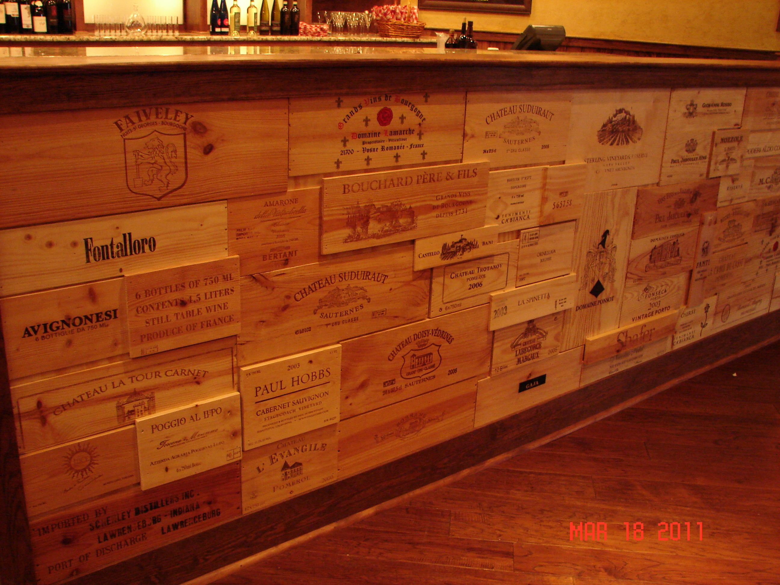 3D Custom Bar Front Made With Wine Panels   Buy Wine Panels Like These!