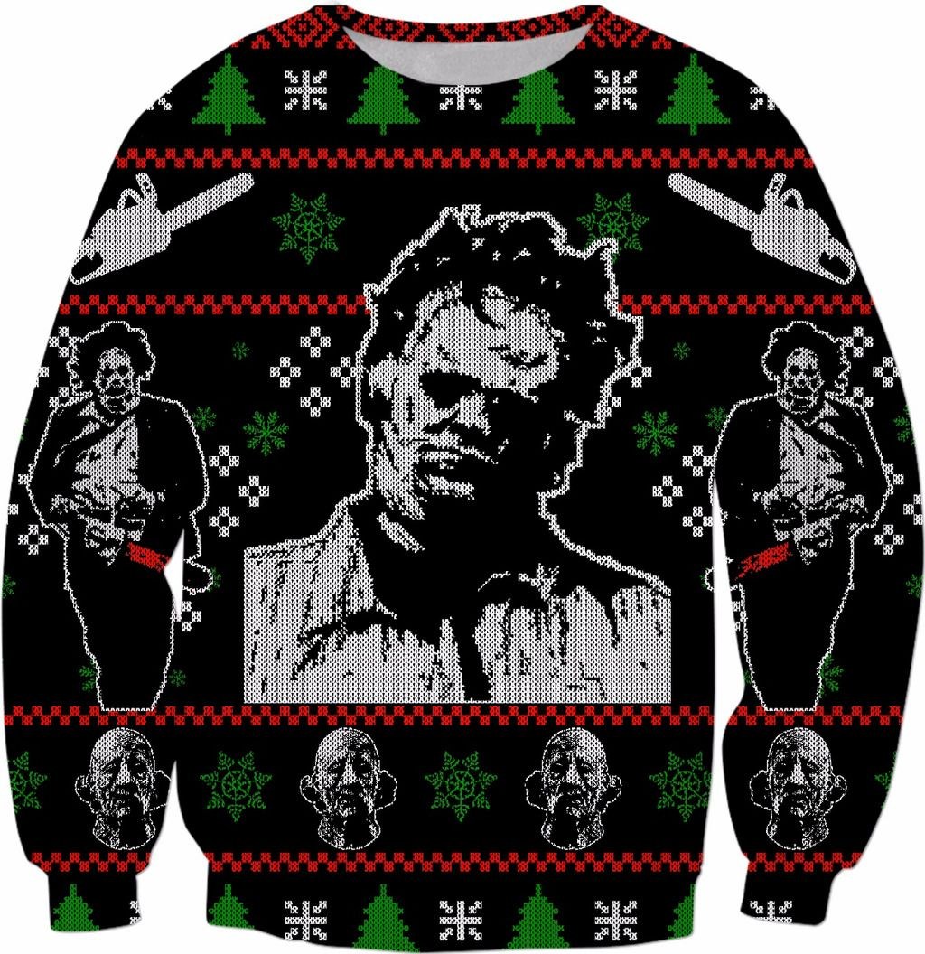 Halloween meets Christmas in this horror themed sweater