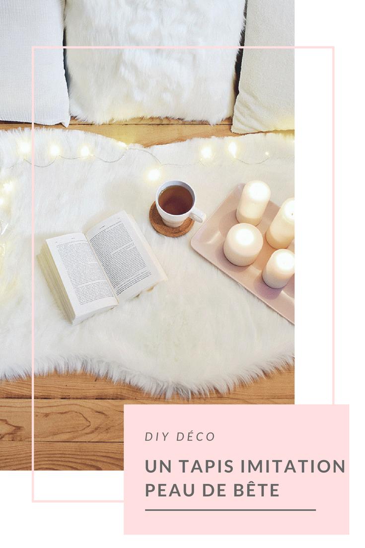 fabriquer un tapis imitation peau de b te d co for the. Black Bedroom Furniture Sets. Home Design Ideas