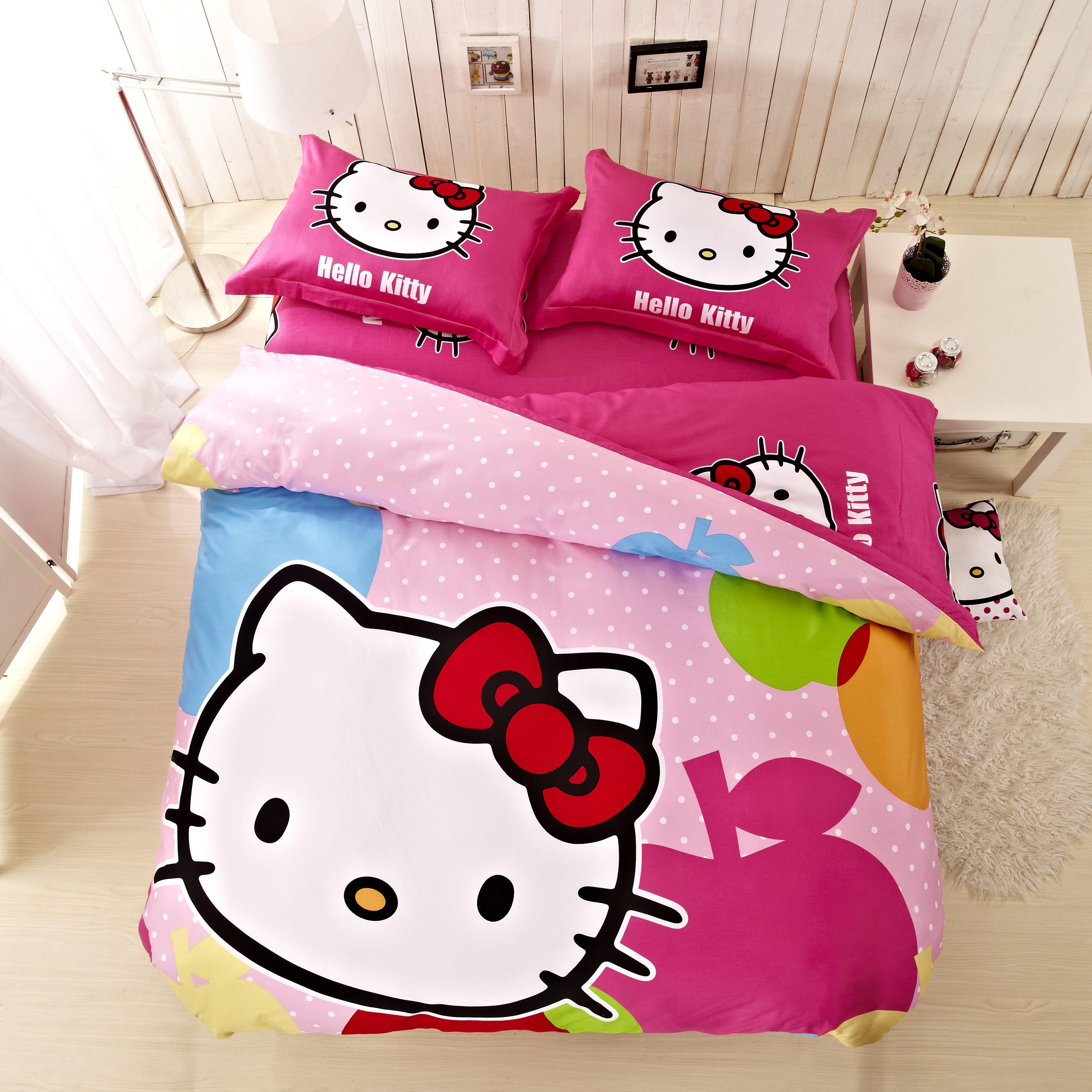 Idea Gift Hello Kitty Baby Bedding Set Girls Bedding Set Duvet Bed ...