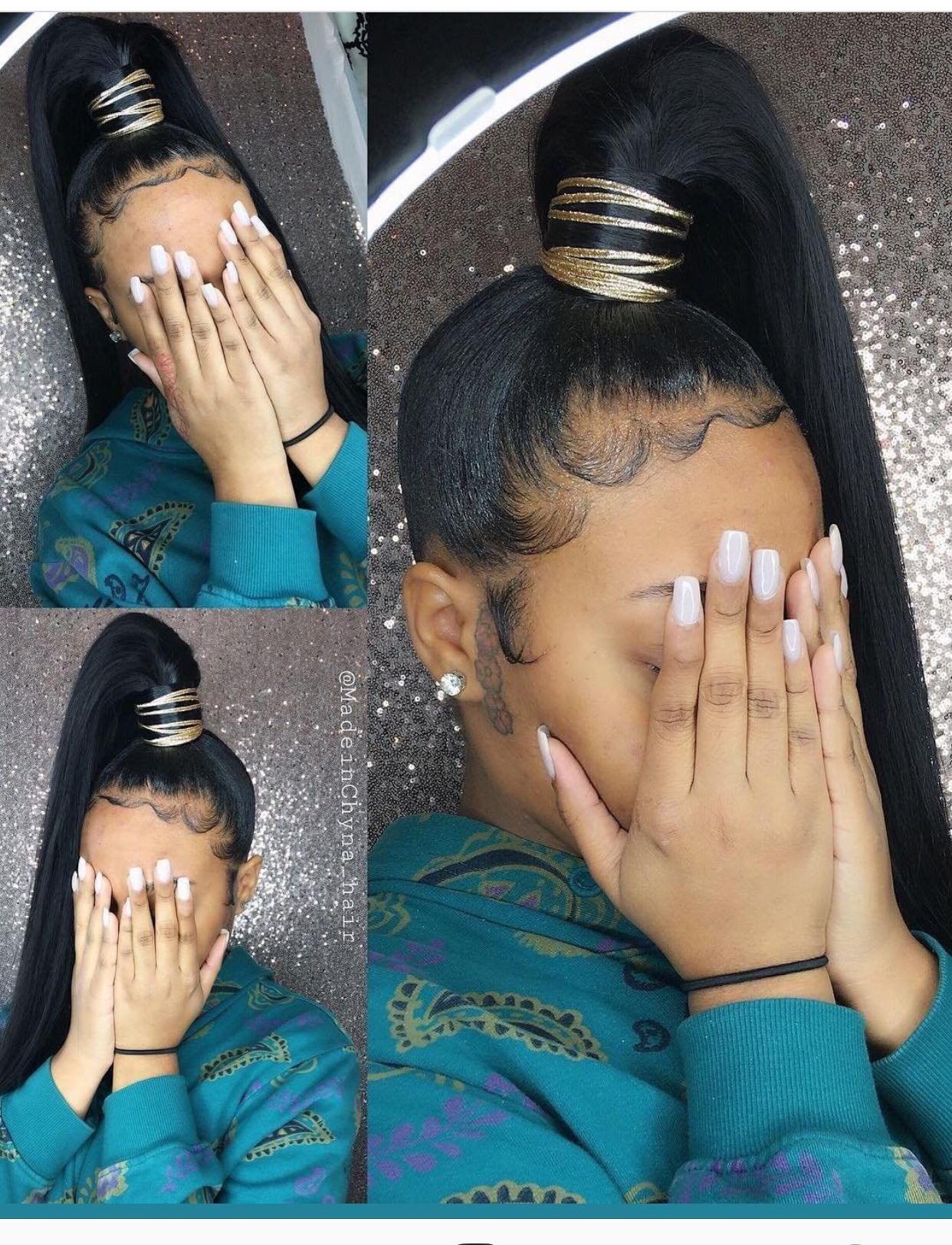 Genie Ponytail New Looks Here Daily Follow My Boards For More Pinterest Chanel Monroe Ponytail Styles Hair Natural Hair Styles