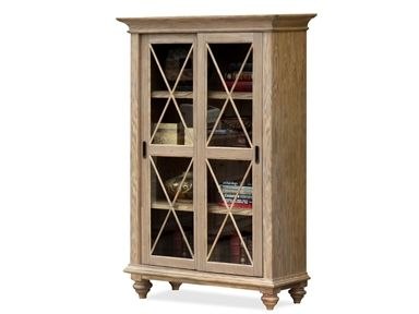 Shop For Riverside Sliding Door Bookcase, And Other Home Office Bookcases  At Furniture Plus Inc. In Mesa, AZ. Two Sliding Framed Glass Doors Enclose  Three ...