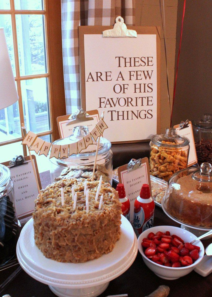 My Favorite Things 90th Birthday Party Theme #favourites