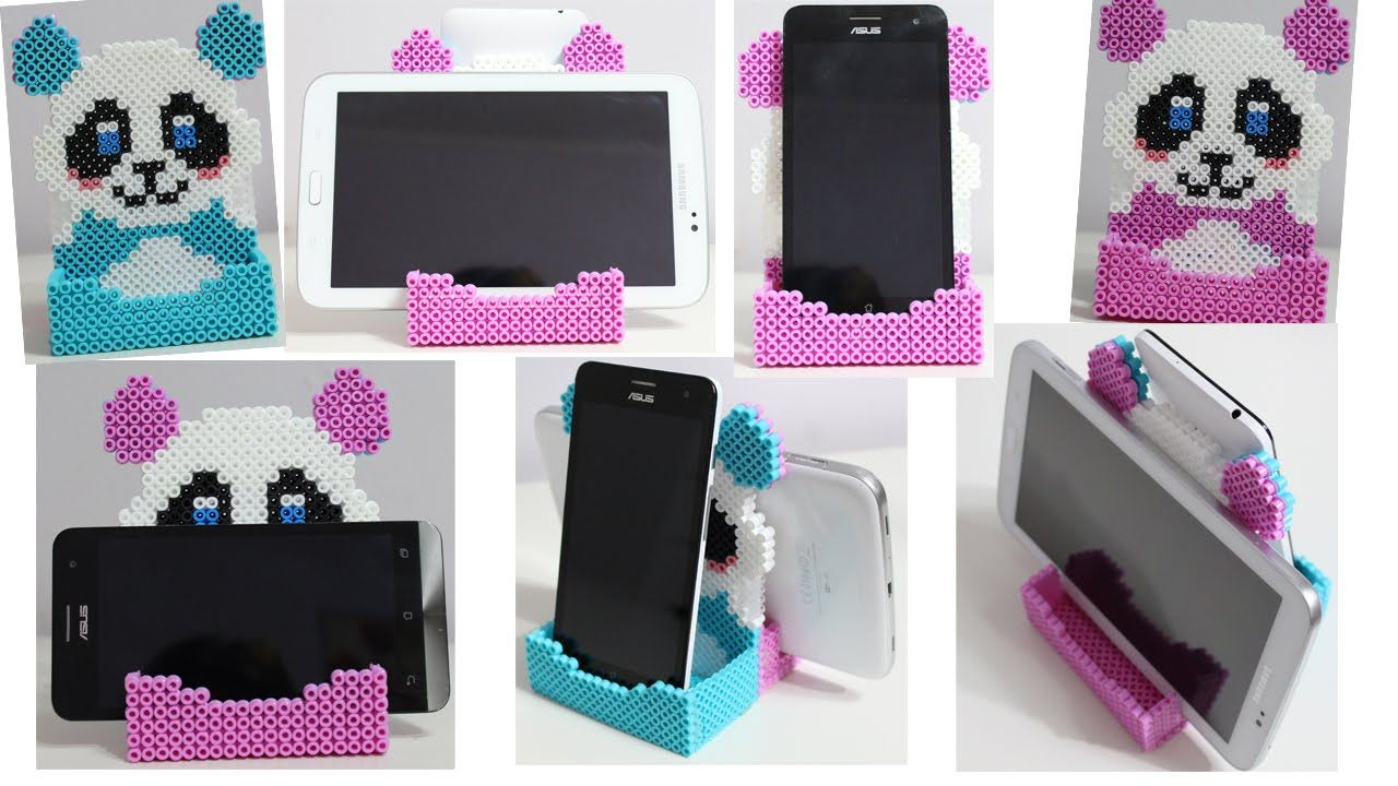 doppio portacellulare con hama beads phone stand soporte perler beads denenecek projeler. Black Bedroom Furniture Sets. Home Design Ideas
