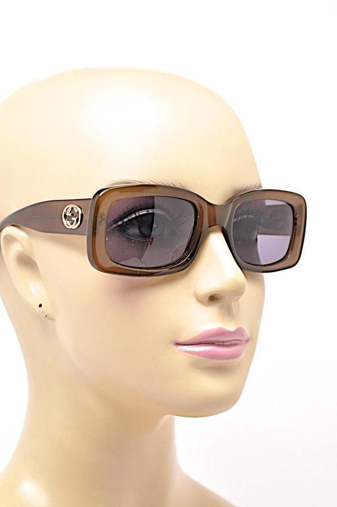 69b0d86fe7b3c GUCCI 2407 S 1BK Amber Honey SUNGLASSES with Black Lens Signature Silver GG  Logo  Gucci  Sunglasses