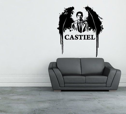Supernatural Castiel Vinyl Diecut Wall Decal Sticker Home Decor - Vinyl wall decals home party