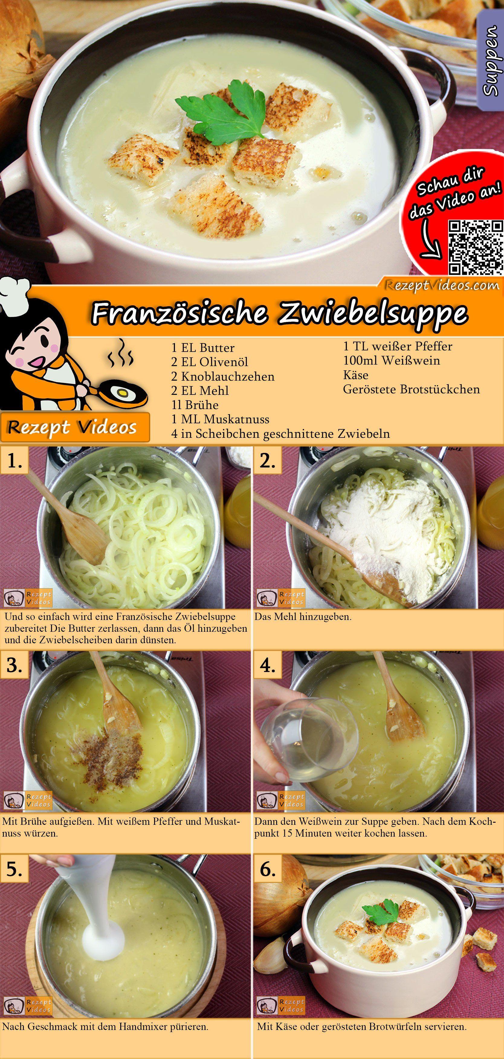 Franzosische Zwiebelsuppe Rezept Zwiebelsuppe Rezept Rezepte Zwiebelsuppe