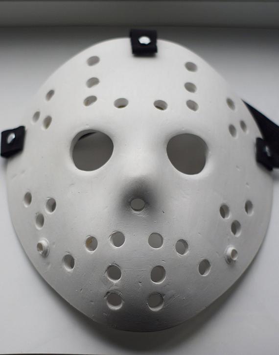 Durable High Quility Resin Jason Voorhees Friday The 13th Custom Jason Mask White Hallowen Mask Creepy Mask Jason Mask Part 3 Halloween