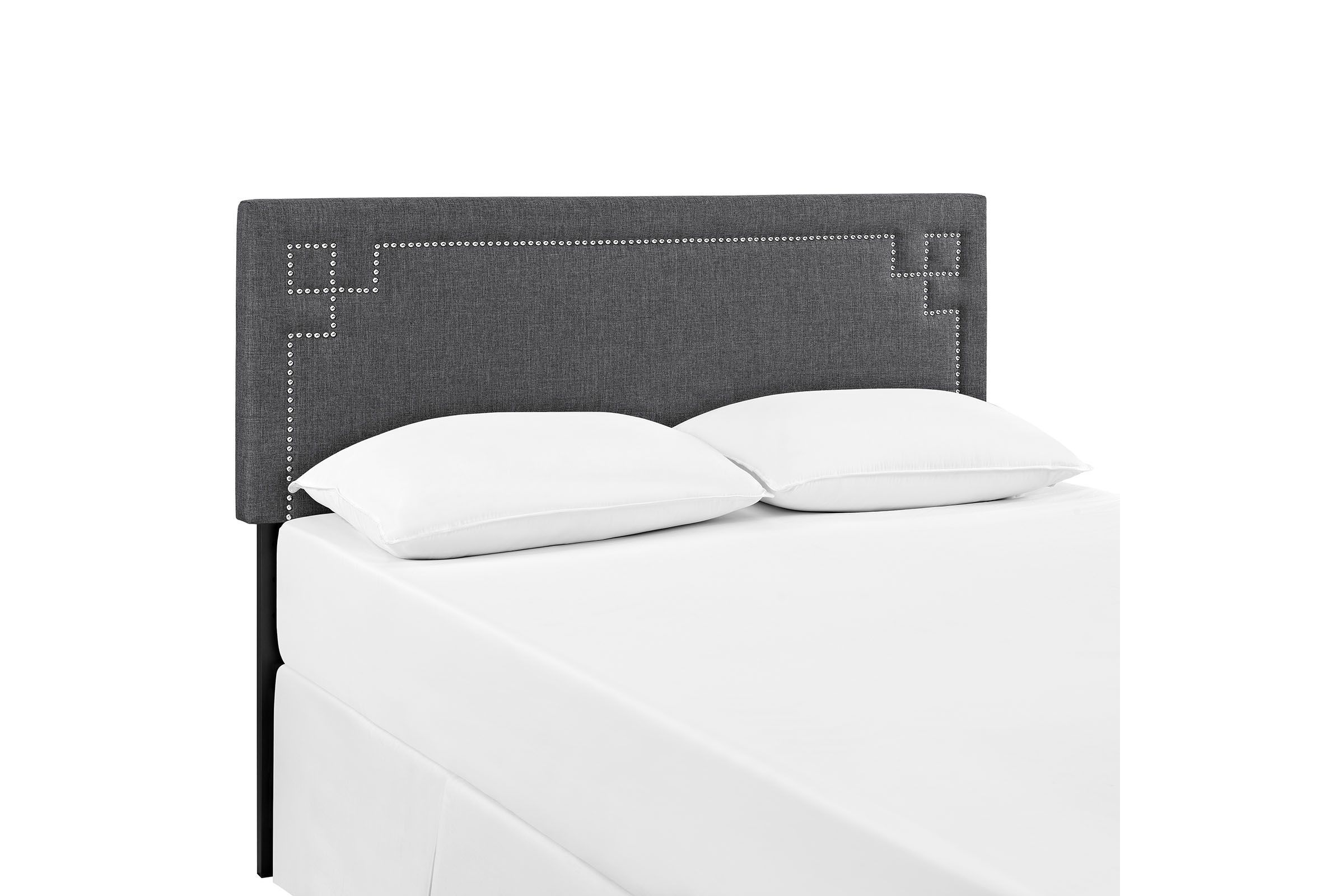 Josie King Upholstered Fabric Headboard In Grey By Modway In 2020 Platform Bed Frame White Furniture Bed Frame