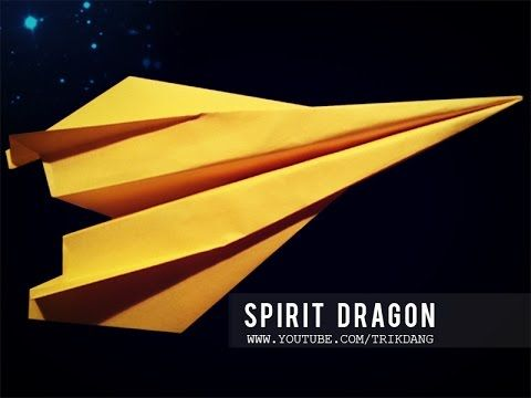 BEST PAPER PLANES - How to Make a paper Airplane that flies far   Spirit Dragon - YouTube