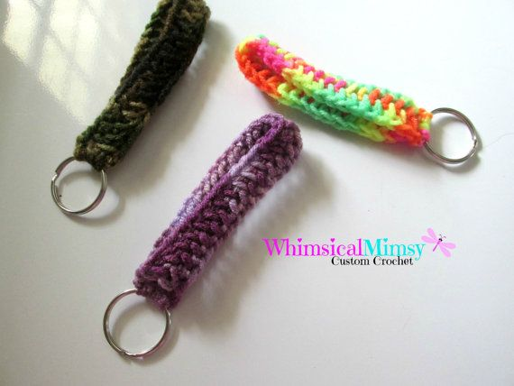 Traditional Tie Dye Key Fob Wristlet Keychain