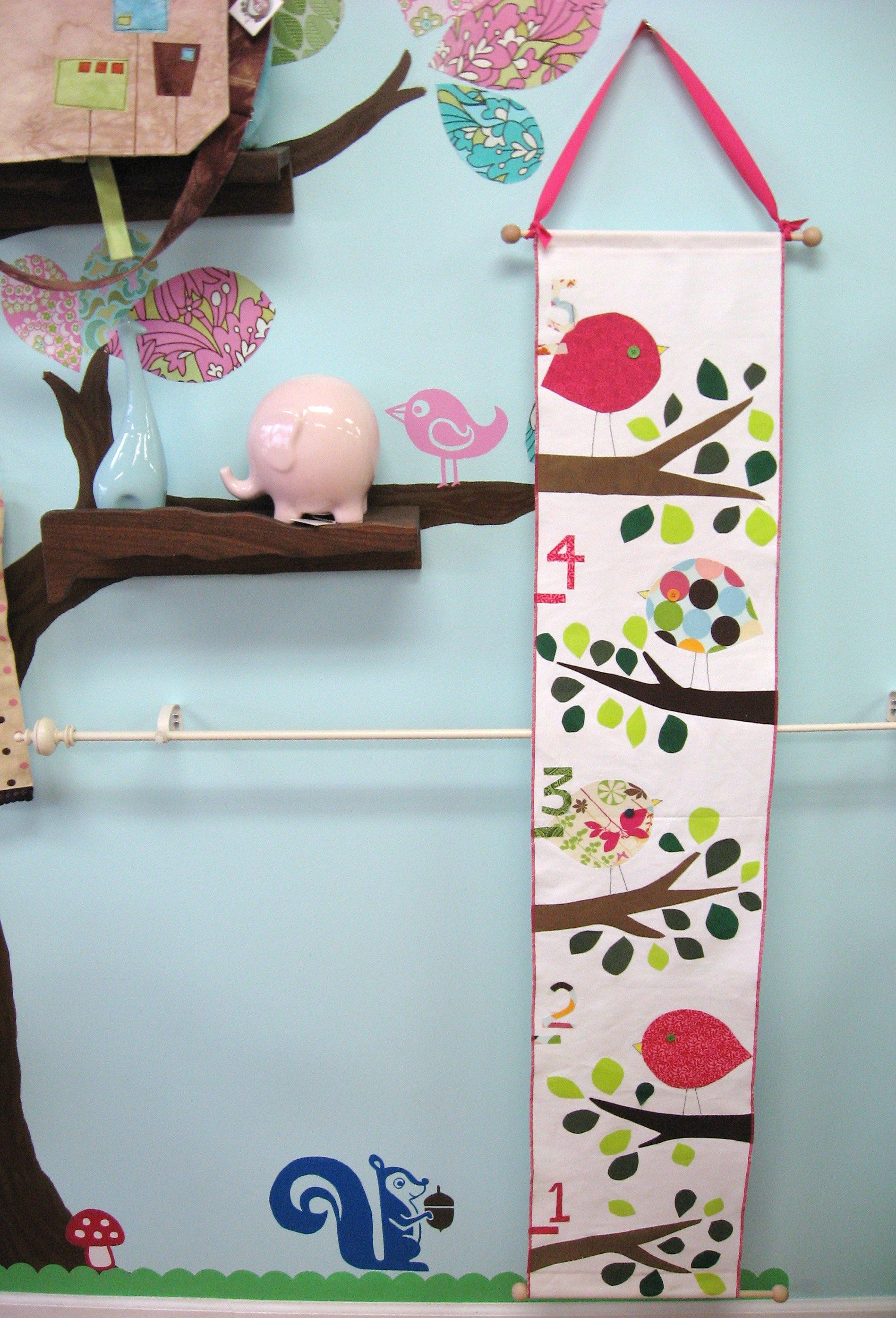Use left over quilt fabrics baby nursery pinterest growth very cute growth chart idea geenschuldenfo Images