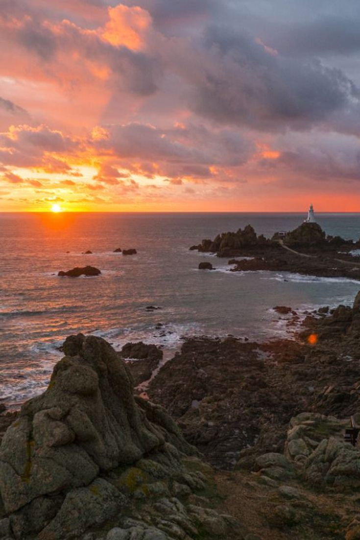 Sunset Channel Islands Harbor: Vibrant Sunset In Jersey, Channel Island #EscapeToJersey