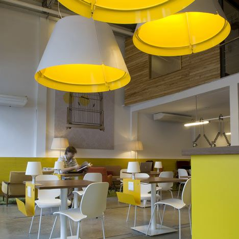 Design studio Total Tool have completed a combined office and cafe for nomadic workers in Buenos Aires, Argentina.