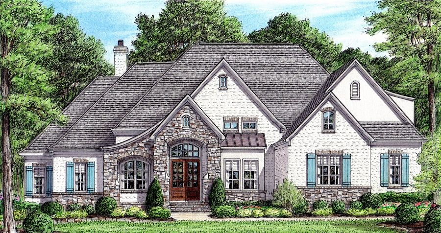 Molinet Ambler Stephen Davis Home Designs French Country House Plans New House Plans Lake House Plans