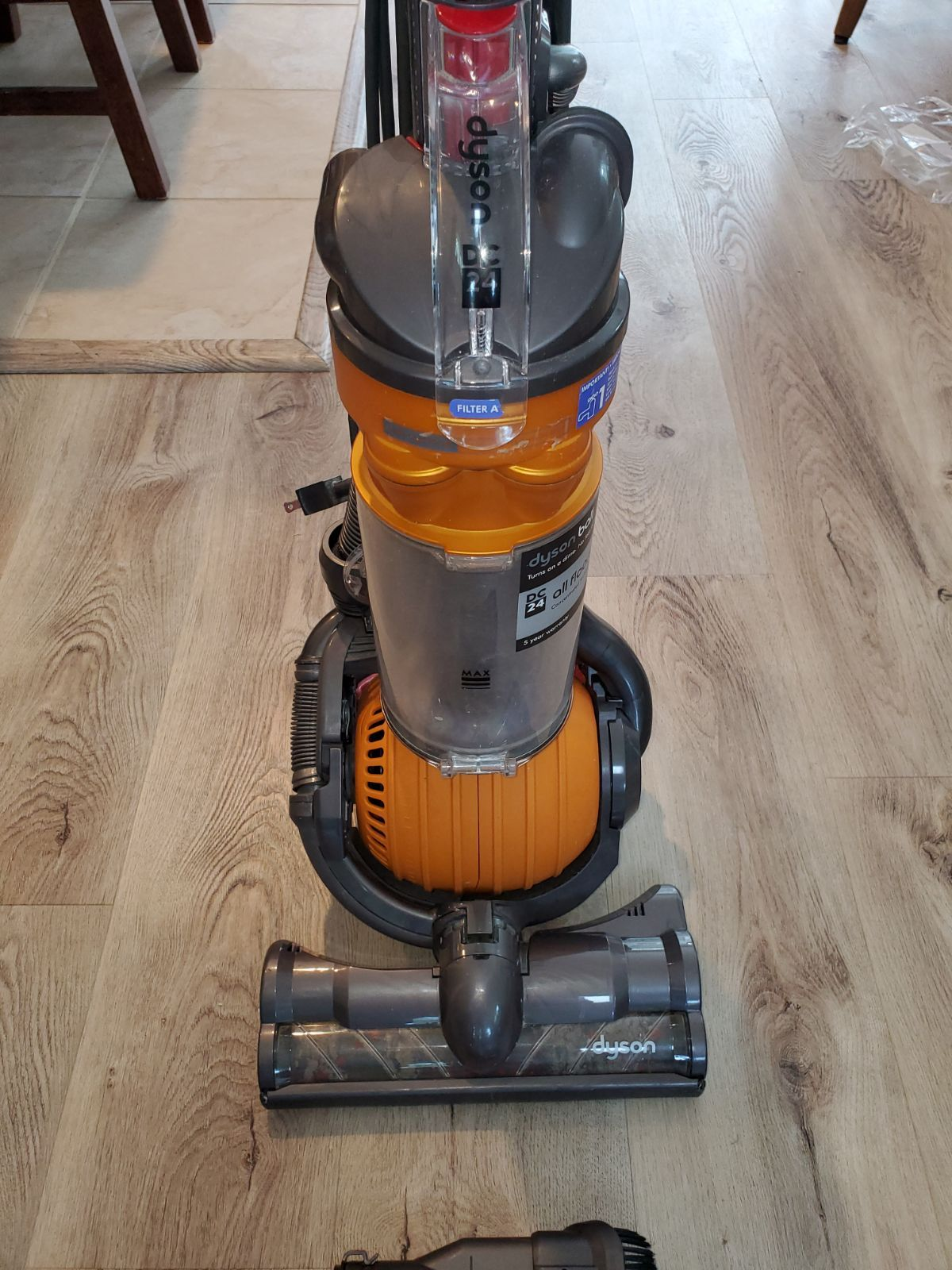 Dyson Dc24 Ball Vacuum Good Condition Works Fine But Does Have Some Cosmetic Flaws Stickers Are Worn And Broken Piece That Used Dyson Vacuums Dyson Vacuums