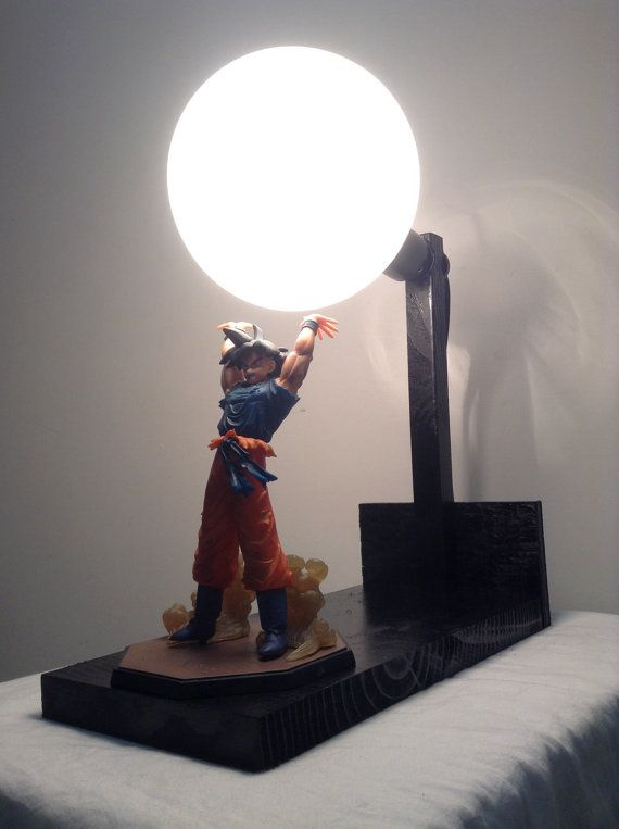 Nice **Priority 2 3 Day Mail Is Standard Shipping** Super Cool Gift Idea. Great  DIY Lamp Kit.Kit Includes: 1 New In Box Goku Action Figure *1