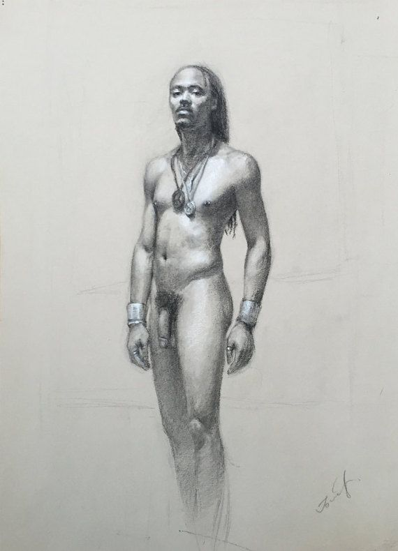 Life Drawing Naked Man