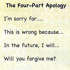 The Four Part Apology how to help your kids learn to apologize