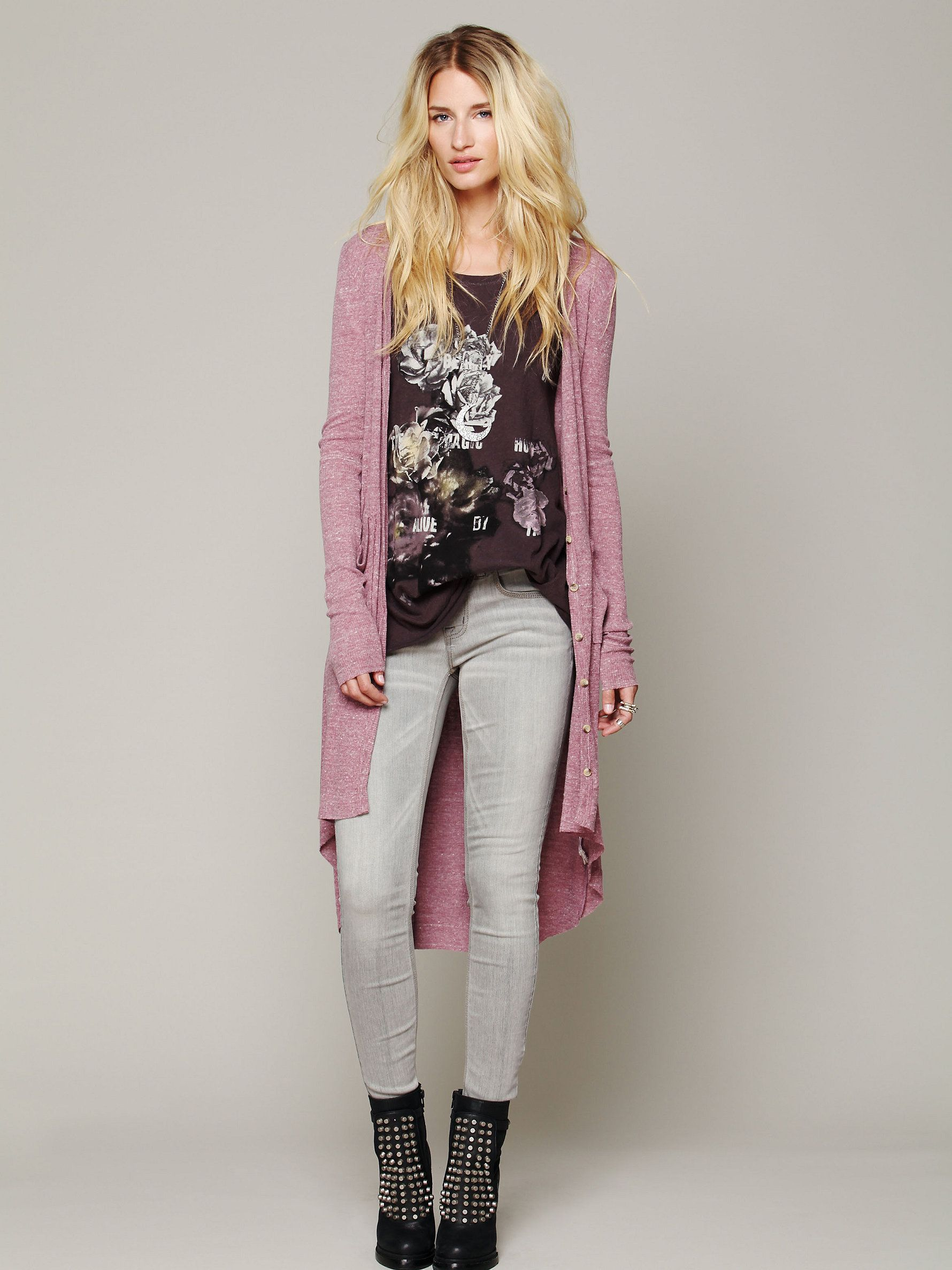 Free People Ribbed Up Maxi Cardigan at Free People Clothing Boutique
